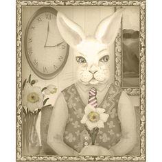 Phooka Portrait with Daffodil Print by FullFrogMoon on Etsy