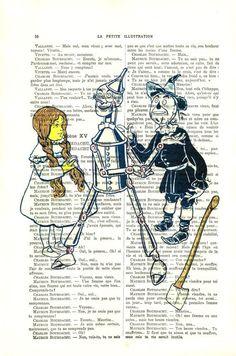 Wizard of Oz Art Print  Tin Man book art  Tin by MadameMemento, $7.99