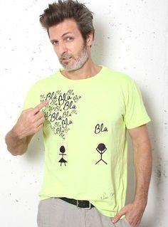 Camiseta amarilla BLA, BLA, BLA...