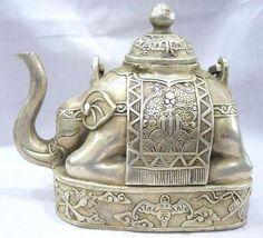Tibetan elephant teapot