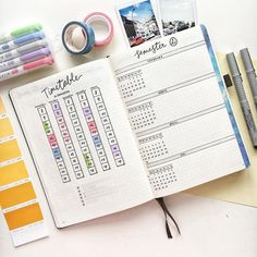 is Studygram and Studyblr? layouts and schedules for Students! Bullet Journal Timetable, Bullet Journal Year Goals, Bullet Journal Student, Bullet Journal October, Bullet Journal Monthly Spread, Bullet Journal Quotes, Bullet Journal 2019, Bullet Journal How To Start A, Bullet Journal Themes