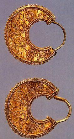 Greek Gold Hoop Earrings