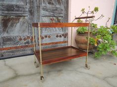 Mid Century Modern Bar Cart with Heated Tray Top Los Angeles by HouseCandyLA, $99.00