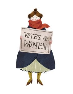 Alice Paul | Illustration by Taryn Knight #suffragette #character #feminism