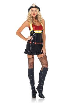 Sexy Women's Halloween Costumes Female Firefighter $43.95