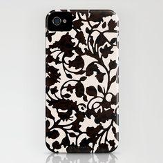 Earth_Black iPhone Case by Garima Dhawan - $35.00