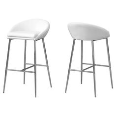Monarch Specialties White Upholstered Bar Stool at Lowe's. With simple lines and contemporary styling, this set of 2 bar height bar stools will transform your entertainment area. The smooth and supple cushioned
