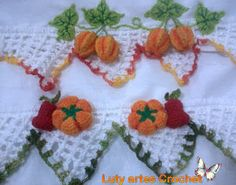 Luty Artes Crochet: Fruit Themed Edging for Dishclothes or ??? /;)
