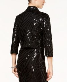 Kasper Sequin Flyaway Jacket - Black 16
