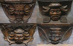Green Men carved in wood in St. Mary's Church, Beverley, Yorkshire, England (photos John W. Schulze)