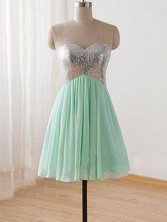 Cute Homecoming Dresses Sweetheart Sage Cheap Short Prom Dress Party Dress JK703