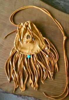 Deerskin Medicine Bag/Totem Bag with by MothersOnTheMountain, $95.00