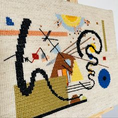 """""""2 bewegungen"""" PDF cross stitch pattern available on my shop. Stitch Shop, Easy Peasy, Cross Stitch Patterns, I Shop, Pdf, Kids Rugs, Abstract, Painting, Patterns"""