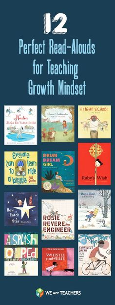 Teach Your Child to Read 12 Perfect Read-Alouds for Teaching Growth Mindset Give Your Child a Head Start, and.Pave the Way for a Bright, Successful Future. Social Emotional Learning, Social Skills, We Are Teachers, Teachers Toolbox, Leader In Me, Mentor Texts, Character Education, Future Classroom, School Counseling