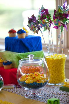 Candy Table for Sesame Street Party by Full of Grace & Rubies
