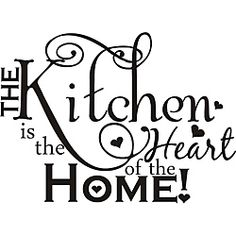 @Overstock - This beautiful vinyl applique applies to smooth surfaces like walls, glass, tile and more. Great for home, office, wedding, anniversary or house warming gifts, this art is easy to apply and comes with application instructions.http://www.overstock.com/Home-Garden/The-Kitchen-is-the-Heart-of-the-Home-Vinyl-Art/6296163/product.html?CID=214117 CAD              49.15