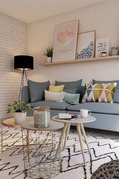 60 Inspiring Grey Small Living Room Apartment Designs #livingroomdecor #livingr Apartment Living Room apartment Designs grey Inspiring living livingr livingroomdecor room small