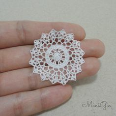 Miniature crochet round doily 1.4 inches dollhouse by MiniGio