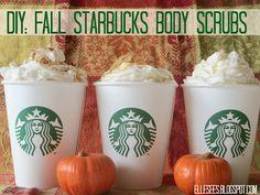 DIY: Fall Starbucks-Inspired Sugar Scrubs--so cute and creative!!
