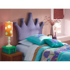 Twin Princess Crown Headboard, Purple