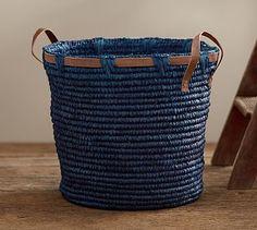 Dyed Sisal Tote Baskets #potterybarn $119