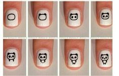 Image via Panda nail art designs Image via How to Create Cute Panda Nail Art Image via Panda nails! Image via Nail Art Water Decals Transfers Sticker Lovely Panda Bamboo Panda Bear Nails, Panda Nail Art, Kawaii Nail Art, Cute Nail Art, Nail Art Designs, Cute Easy Nail Designs, Nails Design, Cute Simple Nails, Nagel Hacks
