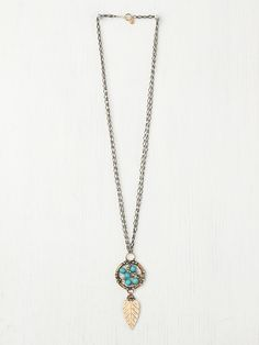 Mikal Winn Turquoise Dream Catcher Pendant at Free People Clothing Boutique