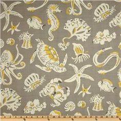 Tommy Bahama Sea Sparkle Sandrift fabric  love the colors...love the print!