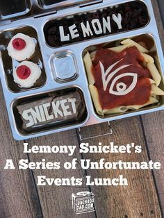At Lunchbox Dad find out about making bento school lunches, parenting tips, parenting products, parenting humor and have fun while doing it! A Series Of Unfortunate Events Quotes, Bento Box, Lunch Box, Dinner Themes, Dinner Parties, Library Cafe, Baked Donut Recipes, Lemony Snicket, The Thing Is