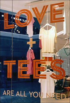 Image result for custom t-shirt print shop window display