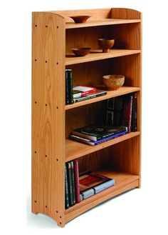 DIY Your Own Bookcase with These Free Plans: Oak Bookcase Plan from Start Woodworking