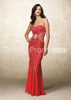 Sexy Floor-Length Sweetheart Zipper-up Sequins Evening Dresses