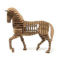 Cardboard animal kit-Horse. Cardboard Animal Kit, #Horse