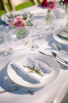 Rosemary Place Setting | photography by http://JamesChristianson.com