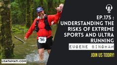 Understanding the Risks of Extreme Sports and Ultra Running with Eugene ... Ultra Marathon, Extreme Sports, Lisa, Baseball Cards, Running, Keep Running, Why I Run