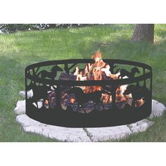 Add to your campfires with this silhouetted fire ring.