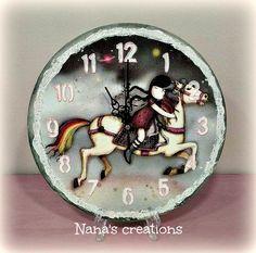 Nana's Χειροποίητες Δημιουργίες Clocks, Wall, Home Decor, Decoration Home, Room Decor, Watches, Walls, Clock