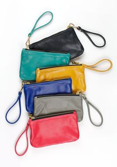 Miishka Wristlet Clutch >>> Exclusive to re-souL and made from a super buttery soft leather, this classic clutch will fit your daily essentials.