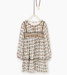 Printed beaded dress-DRESSES AND JUMPSUITS-Girl-Kids | 4-14 years-KIDS | ZARA Canada