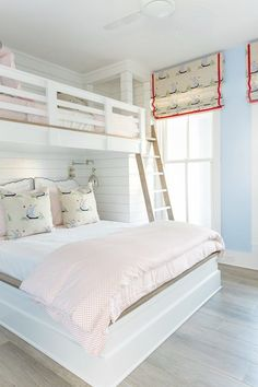 Bunk beds design and room ideas. Most amazing bunk beds for kids. Designing bunk beds that you might like. Coastal Bedrooms, Coastal Living Rooms, Shared Bedrooms, Lake House Bedrooms, Coastal Living Magazine, House Rooms, Boys Room Decor, Boy Room, Girl Rooms