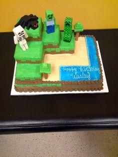 Real Minecraft Cake   Minecraft cake I worked on last week. - Imgur