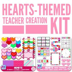 This Heart-Themed Valentine's Day Teacher Creation Kit is a discounted bundle containing templates and clip art for you to create customized activities for your students.  And for sellers or those wanting to start selling, commercial and personal use is permitted if credit to FlapJack is given! Terms of use are provided.  So get started making adorable teacher creations that your students will love and that you can add to your TpT store!