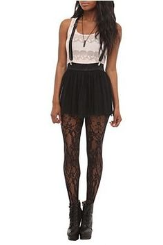 Ussually dont like Hot Topic clothes, but these tights, skirt, and boots are awesome!!!