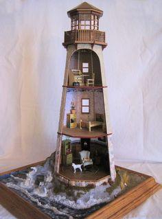 idea for the lighthouse base Lighthouse Books, Clay Pot Lighthouse, Lighthouse Decor, Lighthouse Pictures, Clay Fairy House, Fairy Houses, Nail Polish Crafts, Clay Fairies, Ceramic Houses