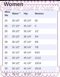 Miss Me Jeans Size Chart For Wanted To Post This Hoping It
