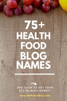 Here are Some Catchy health food blog names for you Catchy Words, Catchy Names, Vegan Blogs, Healthy Food Blogs, Healthy Recipes, Slogan About Nutrition, Food Blog Names, Name For Instagram, Creative Names