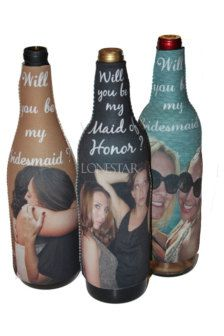 bridesmaid gifts  so cute..invite them to a bbq or bonfire and give them their beers in their koozie asking them
