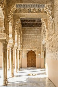 Palacio Nazaríes, Nasrid Palaces, Court of the Lions, Granada, Andalusia, Spain