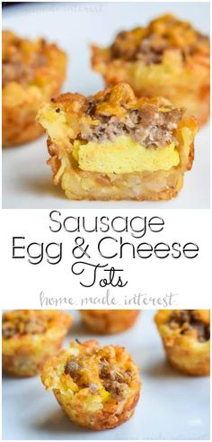 Sausage and Egg Breakfast Tots | This is one of the best brunch recipes you are ever going to try! These Sausage Egg and Cheese Breakfast Tots are tater tots filled with sausage, cream cheese, and scrambled eggs! A bite size brunch recipe that would be a hit at Easter Brunch, Mother's Day Brunch, or a Father's Day breakfast recipe that every dad will love! This is a tater tot breakfast recipe you don't want to miss. #breakfast #brunch #bitesizebrunch #sausage #eggs #tatertots…