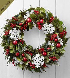 Season's Snowfall Dried & Preserved Holiday Wreath